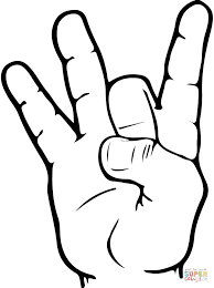 Small Picture ASL Number 8 coloring page Free Printable Coloring Pages