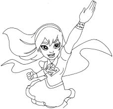 Small Picture Coloring Pages Girl Superheroes Coloring Pages Great Kids Girl