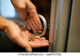 Vending Machine Engagement Ring Extraordinary Sell Technology People Finances And Consumption Concept Hands