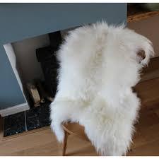icelandic sheepskin rug hide white