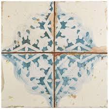 Home Decor Tile Stores Merola Tile Artisan Azul Decor 100 in x 100 in Ceramic Floor and 92
