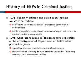 martinson nothing works introduction to evidence based practices ebps prepared by the