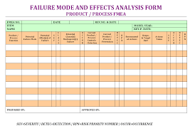 process failure modes and effects analysis failure mode effects analysis form