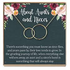 Niece Quotes Inspiration Amazon Dear Ava AuntNiece Necklace AuntNiece Gift Aunt