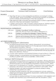 Gallery Of Functional Resume Sample Geriatric Consultant ...