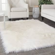 beautiful furry area rugs nobby fluffy white rug spelndid black carpet gray
