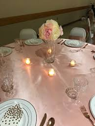Cream Rose Fairy Lights Pink And Cream Roses With Fairy Lights Centerpiece Rose