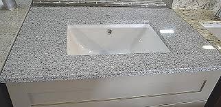 pre fab gray granite vanity top