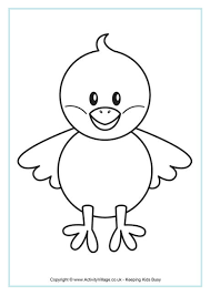 Small Picture Chick Colouring Page