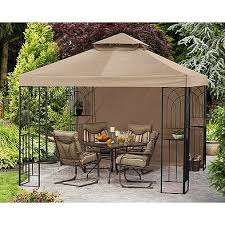 Fred Meyer HD Design Gazebo 10 x 10 Replacement Canopy Garden Winds
