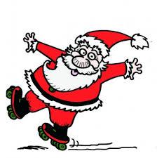 Image result for santa on roller skates clipart