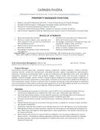 Property Manager Resume Sample Commercial Property Manager Resume