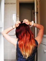 i just need my hair a little bit longer than i want to do red ombre