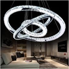 diamond ring led crystal pendant light modern led lighting circles hanging lamp 100 guarantee res luminaire