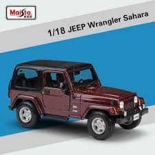 dels about 1 18 scale jeep wrangler sahara alloy toy collection by maisto cast car model
