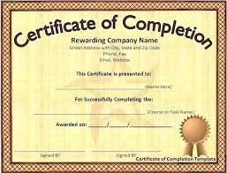 Award Certificates Word Impressive Certificate Of Completion Template Word Puebladigitalnet