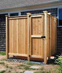 cedar outdoor shower kit ideas designs outside enclosure kits stall with window vinyl outdoor shower enclosure