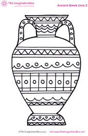 Small Picture ancient greek urn colouring sheet Yr3 Greek art Lent