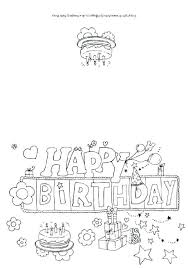 black and white birthday cards printable free colouring pages birthday cards printable coloring for dad happy