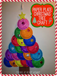 holiday craft painted paper plate tree
