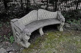 concrete garden bench. Concrete Garden Bench Large Lion Detailswonderful European Old .