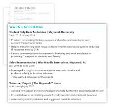 How To Write A Professional It Resume With An Example