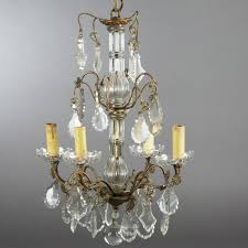 small crystal chandelier in the 18th century manner
