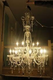 huge 5 foot deep lead crystal chandelier