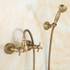 rain shower head bathtub. BOCHSBC European Rain Shower Set Antique Brass Tub Faucet Hand Telephone Head Simple Heads-in Heads From Home Improvement On Bathtub