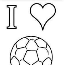 I Love Soccer Coloring Page Free Coloring Pages Online
