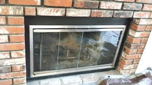how to replace fireplace doors custom fireplace glass doors custom satin nickel glass fireplace made satin how to replace fireplace
