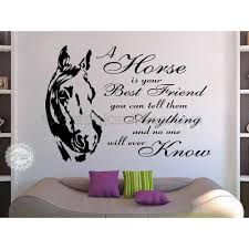 horse wall sticker quote a horse is your best friend vinyl mural decor decal on horse wall art decal with horse wall sticker quote a horse is your best friend vinyl mural