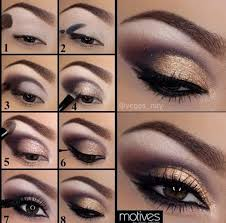 purple and gold eye makeup tutorial