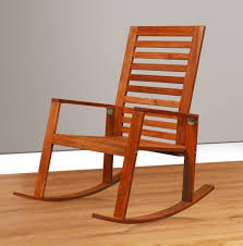 furniture simple varnished wooden rocking chair with ladder back the comfort of wooden rocking