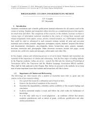 Pdf Bibliographic Citation And Referencing Method