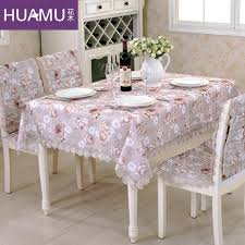cotton blended exquisite fabrics dining table cloth chair covers cushion chair cover rustic lace cloth set