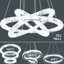crystal ring chandelier glam art style collection light chrome finish square flush swarovski