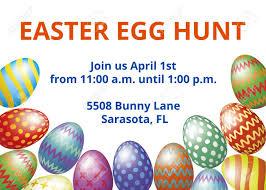 Easter Egg Hunt Invitation Card Design Template