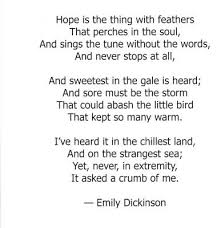 Famous Poetry Quotes Best Emily Dickinson Hope Is The Thing With Feathers Excellent