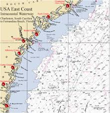 Intracoastal Waterway Mileage Chart North Carolina Intracoastal Waterway Map 40 Icw Mileage