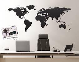 office world map. Vinyl Wall Art World Map Of Earth Office