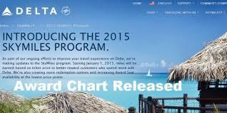 Delta Skymiles Mileage Chart Delta Releases 2015 Skymiles Award Chart Loyaltylobby