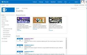 Sharepoint Website Examples Corporate Event Add In Integration With Sharepoint