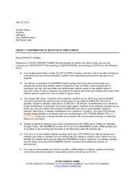 Letter Of Verification Of Employment Letter Confirming Employment Terms Template Word Pdf By