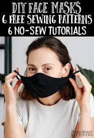 6 face mask sewing patterns and 6 diy