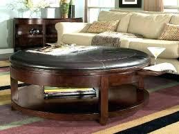round tufted ottoman coffee table round leather coffee table round leather coffee table ottoman s black