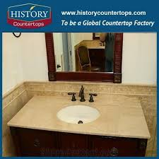 italy botticino classico natural stone solid surface vanity tops with sigle and double sinks for bathrooms custom size marble bath countertop installed