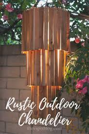 make an outdoor rustic chandelier an easy diy outdoor chandelier