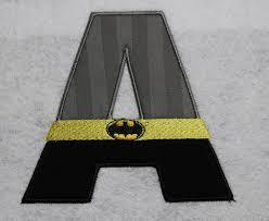 Free Batman Machine Embroidery Designs Batman Alphabet Applique Design Monogram Letters Super Hero
