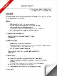 good marketing resumes marketing resume sample